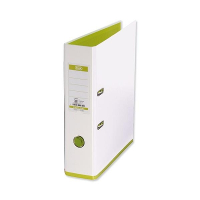 Elba MyColour Lever Arch File Polypropylene Capacity 80mm A4 White and Lime Ref 100081032