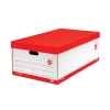 5 Star Jumbo Storage Box W412xD715xH276mm Red & White [Pack 5]