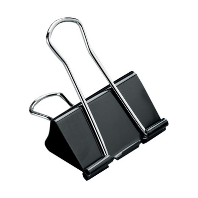 5 Star Foldback Clips 41mm Black [Pack 12]