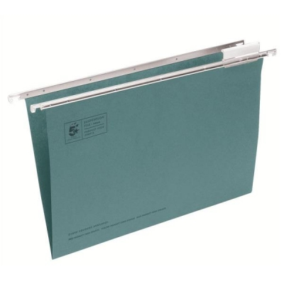 5 Star Suspension File Manilla Heavyweight with Tabs and Inserts Foolscap Green [Pack 50]