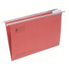 5 Star Suspension File Manilla Heavyweight with Tabs and Inserts Foolscap Red [Pack 50]
