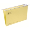 5 Star Suspension File Manilla Heavyweight with Tabs and Inserts Foolscap Yellow [Pack 50]