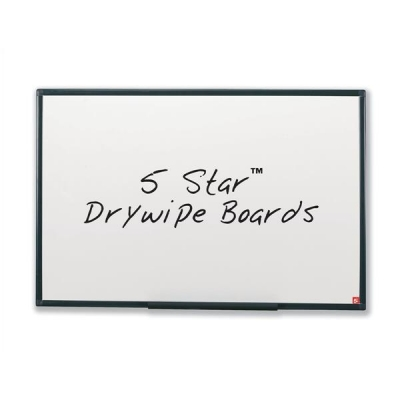 5 Star Drywipe Board Lightweight with Fixing Kit and Detachable Pen Tray W1800xH1200mm