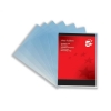 5 Star Folder Plastic Copy-safe 90 Micron A4 Clear [Pack 100]