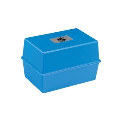 5 Star Card Index Box Capacity 250 Cards 6x4in 152x102mm Blue