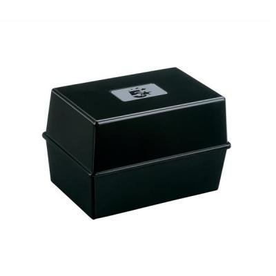 5 Star Card Index Box Capacity 250 Cards 8x5in 203x127mm Black