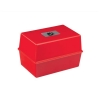 5 Star Card Index Box Capacity 250 Cards 8x5in 203x127mm Red