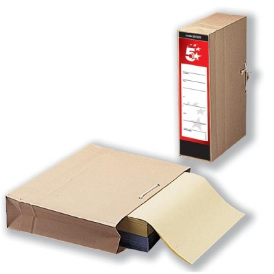 5 Star Storage Bag with Dust Flap Foolscap 102mm Capacity 356x248mm [Pack 25]