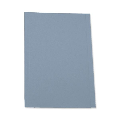 5 Star Square Cut Folder Recycled Pre-punched 250gsm Foolscap Blue [Pack 100]