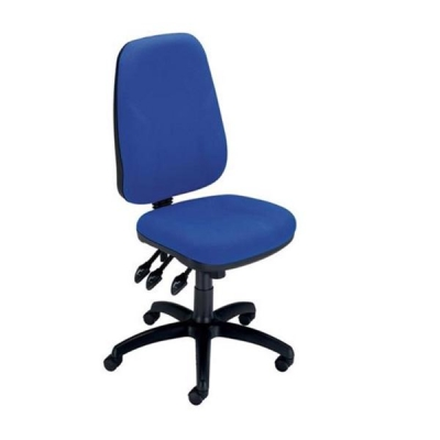 Trexus Intro Maxi Operator Chair Asynchronous High Back H590mm W530xD470xH480-610mm Royal Blue