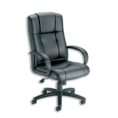 Trexus Intro Sussex Manager Chair Back H670mm W530xD520xH500-600mm Leather Black