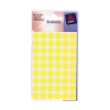 Avery Packets of Labels Diam.12mm Fluorescent Yellow Ref 32-284 [10x216 Labels]