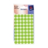 Avery Packets of Labels Diam.12mm Fluorescent Green Ref 32-282 [10x216 Labels]