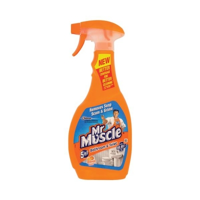 Mr Muscle Bathroom Cleaner Spray Bottle 5 in 1 500ml Ref 91576