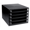 Recycled Desktop Recycled Plastic 5 Drawer Set W387xD284xH218mm Black Ref 221014D