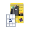 Avery Name Badge Labels Laser Self-adhesive 63.5x29.6mm White Ref L4784-20 [540 Labels]
