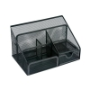 Desk Organiser Mesh Scratch Resistant with Non Marking Rubber Pads Black