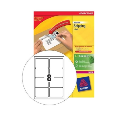 Avery Addressing Labels Laser Jam-free 8 per Sheet 99.1x67.7mm White Ref L7165-40 [320 Labels]