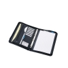 Ring Binder Folder Zipped with Pad 4 Ring Capacity 30mm A4 Black