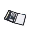 Ring Binder Folder Zipped with Pad 4 Ring Capacity 30mm A4 Black