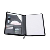 Writing Case Zipped with Pad and Calculator A4 Leather Look Black