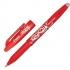 Pilot FriXion Rollerball Pen Eraser Rewriter 0.7mm Tip 0.4mm Line Red Ref 224101202 [Pack 12]