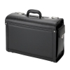 Alassio Genova Pilot Case Multi-section 2 Combination Locks Leather-look Black Ref 45028