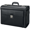 Alassio Vicenza Pilot Case Multi-section 2 Combination Locks Leather-look Black Ref 45047