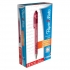 Paper Mate Flexgrip Retractable Ball Pen Medium 1.0mm Tip 0.4mm Line Red Ref S0190413 [Pack 12]