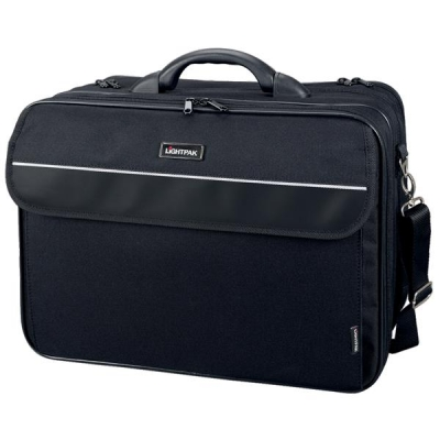 Lightpak Corniche Multifunction Nylon with Laptop Compartment Capacity 17in Black Ref 46075