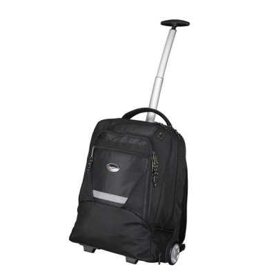 Lightpak Master Laptop Backpack with Trolley Nylon Capacity 15.4in Black Ref 46005