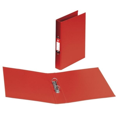 5 Star Ring Binder Polypropylene 2 O-Ring Size 25mm A4 Red [Pack 10]
