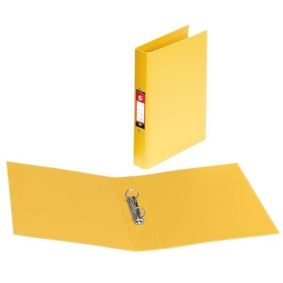 5 Star Ring Binder Polypropylene 2 O-Ring Size 25mm A4 Yellow [Pack 10]