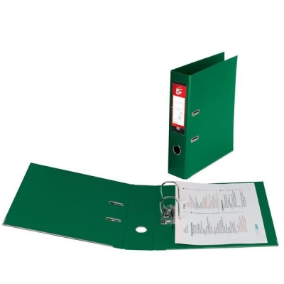 5 Star Lever Arch File PVC Spine 70mm A4 Green [Pack 10]