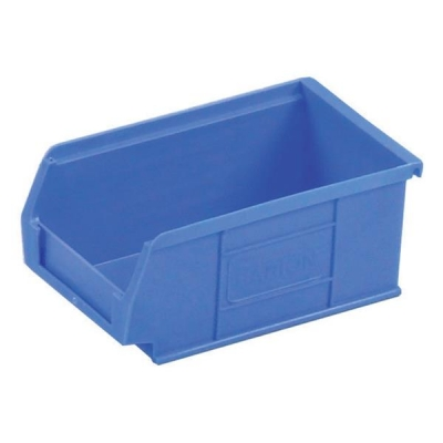 Container Bin Heavy Duty Polypropylene W165xD100xH75mm Blue [Pack 20]