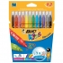 Bic Kids Couleur Felt Tip Pens Ultra-washable Water-based Medium Tip Assorted Ref 841798 [Pack 12]
