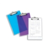 5 Star Clipboard Polypropylene Shatterproof Frosted Purple or Green or Clear
