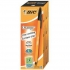 Bic Orange Ball Pen 0.8mm Tip 0.2mm Line Black Ref 1199110114 [Pack 20]