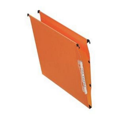 Bantex Linking Lateral File Kraft 210gsm Square-base 30mm Capacity W330mm Orange Ref 100330744 [Pack 25]
