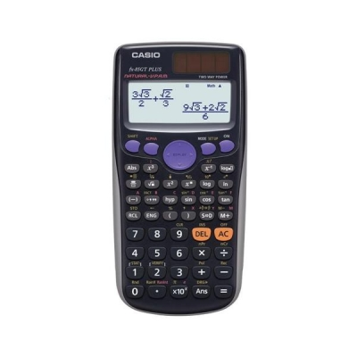 Casio Calculator Scientific Solar and Battery TwinLine Natural Textbook Display 10+2 Digit Ref FX85GT