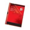 5 Star Clip Folder 3mm Spine for 30 Sheets A4 Red [Pack 25]