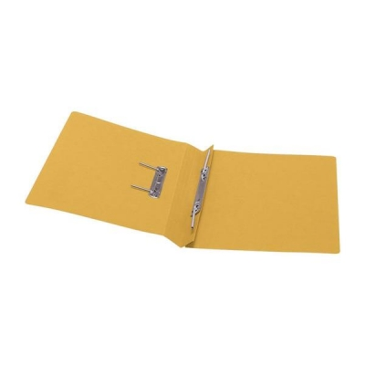 5 Star Transfer Spring File 285gsm 38mm Foolscap Yellow [Pack 50]
