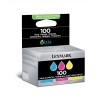Lexmark No. 100 Inkjet Cartridge Page Life 600pp Cyan/Magenta/Yellow Ref 14N0849 [Pack 3]