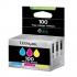 Lexmark No. 100 Inkjet Cartridge Page Life 600pp Cyan/Magenta/Yellow Ref 14N0849 [Pack 3]