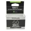 Lexmark No. 100XL Inkjet Cartridge Page Life 1020pp Black Ref 14N0848 [Pack 2]