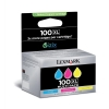 Lexmark No. 100XL Inkjet Cartridge High Yield Page Life 3x600pp Cyan/Magenta/Yellow Ref 14N0850 [Pack 3]