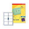 Avery Clear Addressing Labels 8 per Sheet 99.1x67.7mm Ref J8565-25 [200 Labels]
