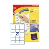 Avery Clear Addressing Labels 21 per Sheet 63.5x38.1mm Ref J8560-25 [525 Labels]