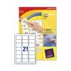 Avery Clear Addressing Labels 21 per Sheet 63.5x38.1mm Ref J8560-25 [525 Labels]