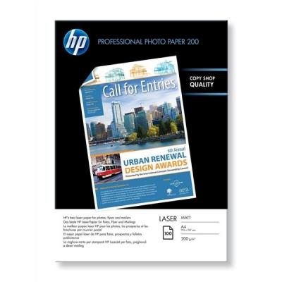 Hewlett Packard [HP] Laser Photo Paper Matt 200gsm A4 Ref Q6550A [100 Sheets]